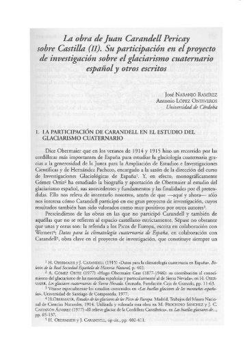 La obra de Juan Carandell Pericay sobre Castilla (IIJ. SU ...
