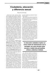 Ciudadanía, educación y diferencia sexual - Helvia - Universidad de ...