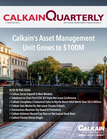 CALKAIN QUARTERLY - 4Q 2014