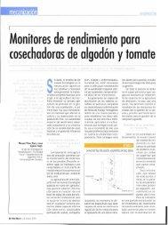 Monitores de rendimiento para cosechadoras de algodón y tomate
