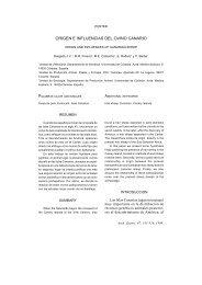 origen e influencias del ovino canario - Helvia - Universidad de ...