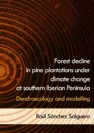 Forest decline in pine plantations under climate change at southern ...