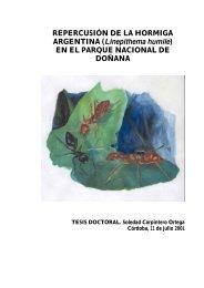 REPERCUSIÓN DE LA HORMIGA ARGENTINA (Linepithema humile)