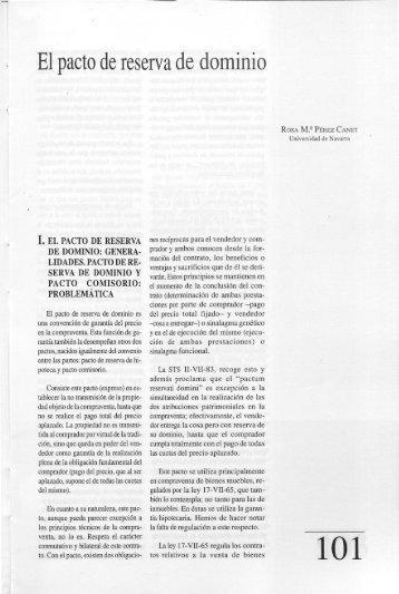 El pacto de reserva de dominio - Helvia
