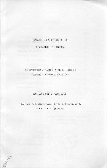 trabajos cientificos de la universidad de cordoba - Helvia