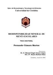 Universidad de Córdoba BIODISPONIBILIDAD MINERAL DE ...