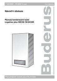 User manual Logamax plus GB152-16/24/24K - CZ - e-Teplo.cz