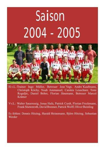 Saison 2004/2005 - TSV Landolfshausen