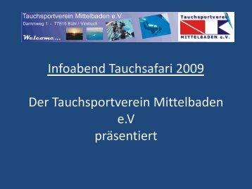 Info-Präsentation - Tauchsportverein Mittelbaden