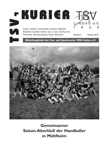 Kurier 05/2010 - TSV Lindau 1850 eV