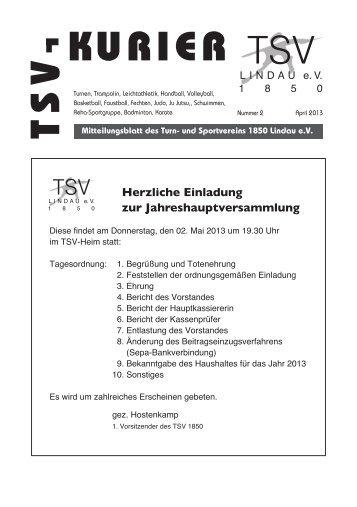 Kurier 02/2013 - TSV Lindau 1850 eV