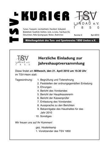 Kurier 02/2010 - TSV Lindau 1850 eV