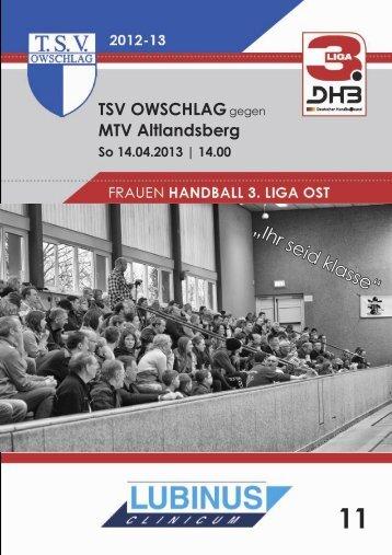 14.04.13 Heft 11 - TSV Owschlag