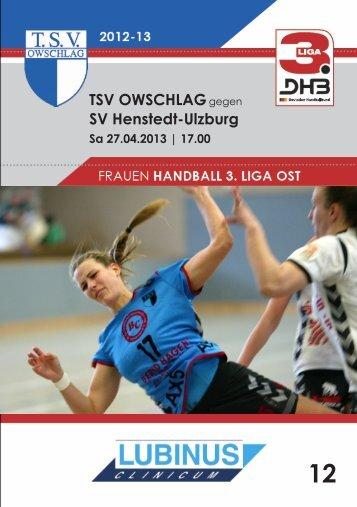 27.04.13 Heft 12 - TSV Owschlag