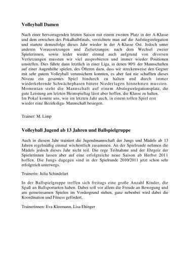 Volleyball 2010 - TSV Westhausen