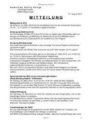 Mitteilungen vom 18.03.2010 - Hallig Hooge