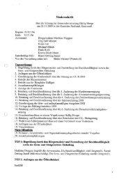 Niederschrift vom 26.11.2009 - Hallig Hooge