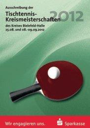 Flyer und Ausschreibung - des Tischtenniskreises Bielefeld/Halle