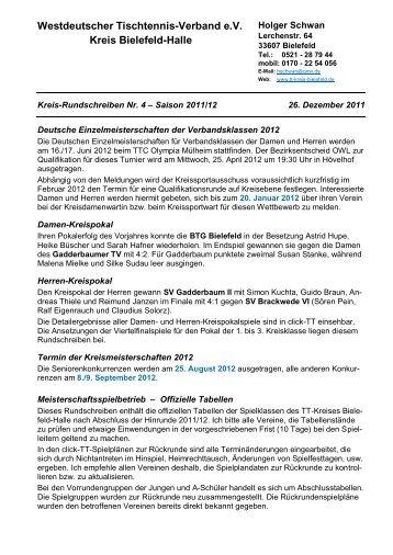 Kreisrundschreiben Nr.4 vom 27. Dezember 2011 - des ...