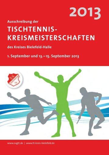 Ausschreibung - des Tischtenniskreises Bielefeld/Halle