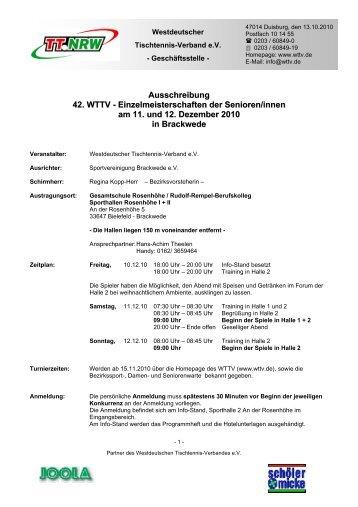 Ausschreibung 42. WTTV - Einzelmeisterschaften der Senioren ...