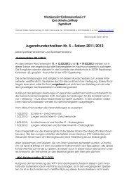 Jugend-Rundschreiben Nr. 5 der Saison 2011/2012 - Kreis Minden ...