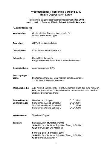 Ausschreibung Bezirksmeisterschaften Nachwuchsklassen - WTTV ...