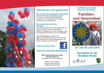 Flyer Familien - BSC Rapid Chemnitz