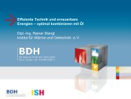 Effiziente Technik und erneuerbare Energien ... - ISH 2011 - BDH