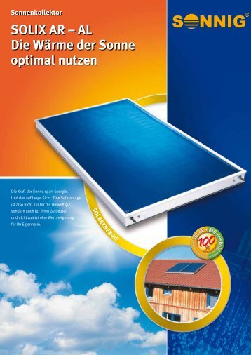 SOLIX AR – AL Die Wärme der Sonne optimal nutzen - NOTHAFT ...