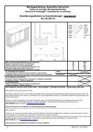 Montageanleitung /Assembly Instruction Erweiterungselement zu ...