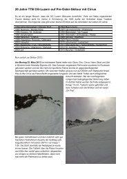 20 Jahre TTB OG-Luzern auf Pre-Oster-Skitour mit ... - TTB Burgdorf