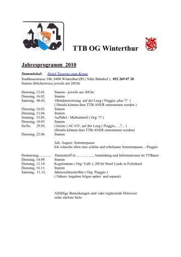 TTB Jahresprogramm 2010 - TTB Burgdorf
