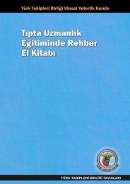 tıpta uzmanlık eğitiminde rehber el kitabı - Türk Tabipleri Birliği