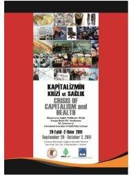 Kapitalizmin Krizi ve Sağlık - Türk Tabipleri Birliği