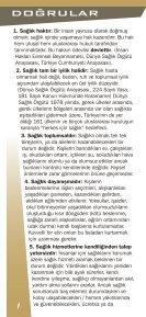 sagliga iliskin gercekler kucuk.cdr - Türk Tabipleri Birliği - Page 2