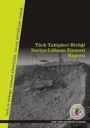 suriye lubnan rapor kapak.cdr - Türk Tabipleri Birliği