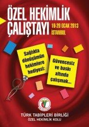 Özel Hekimlik Çalıştayı - Türk Tabipleri Birliği