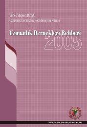 ttb udkk uzmanlık dernekleri rehberi - Türk Tabipleri Birliği