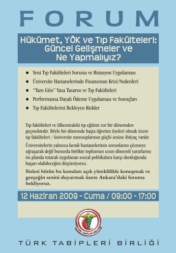 Broşür için tıklayınız... - Türk Tabipleri Birliği