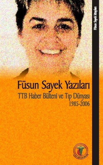 Füsun Sayek Yazıları TTB Haber - Türk Tabipleri Birliği