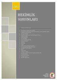 hekimlik sorunları - Türk Tabipleri Birliği