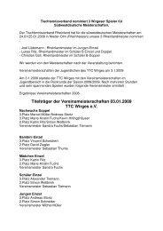 Rheinlandmeisterschaften und Vereinsmeisterschaften 2008