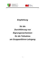 Empfehlung für die Durchführung von ... - AGBF NRW