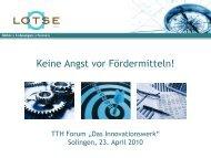 Innovationsmanagement des Bundes - TTH-NRW