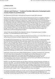 2009-10-23 Presseinfo MWME Seifriz-Preis 2009 - TTH-NRW