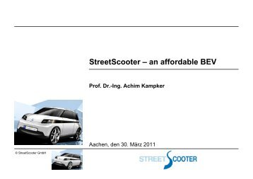 StreetScooter – an affordable BEV - TTH-NRW