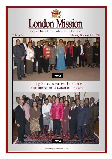 Feb-Mar 2008 - High Commission for the Republic of Trinidad ...