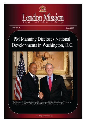 June 2007.pdf - High Commission for the Republic of Trinidad ...