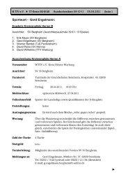 Das Rundschreiben Nr. 9 der Saison 2010/2011 - beim ...